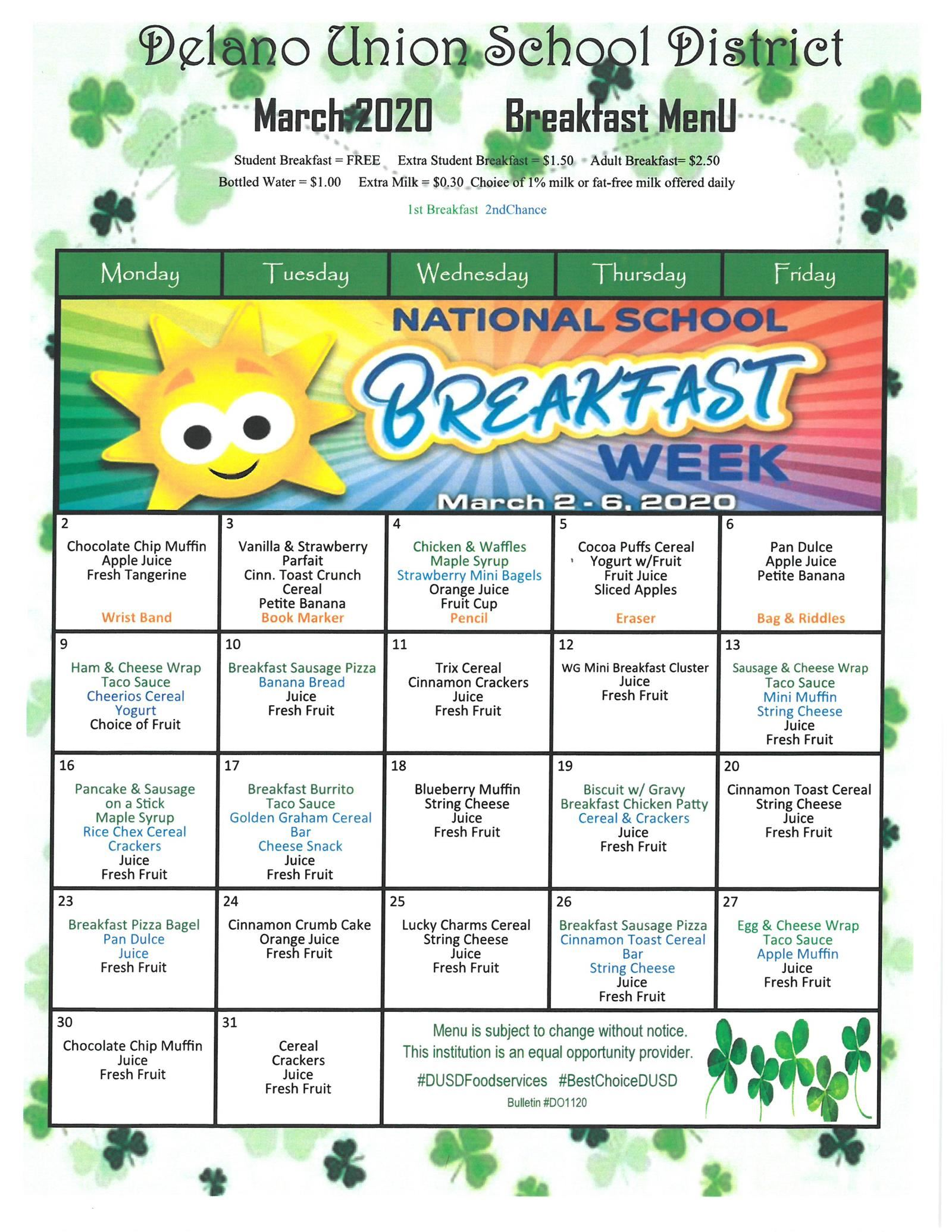 National School Breakfast Week!